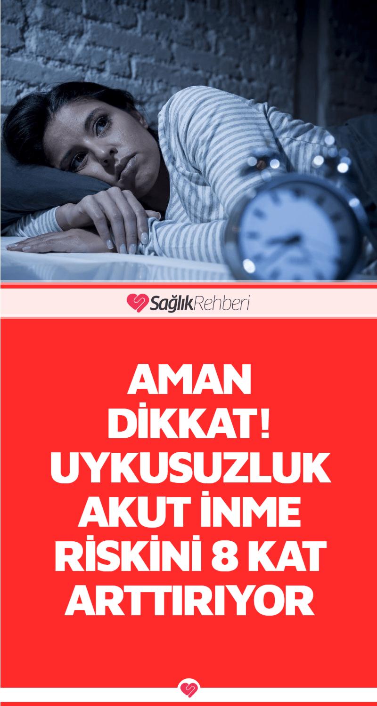 Aman Dikkat! Uykusuzluk Akut İnme Riskini 8 Kat Arttırıyor